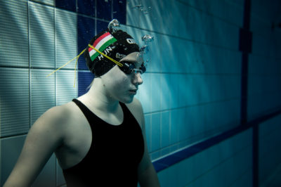 Hungarian swimmers practising to the Olympic games in Rio 2016